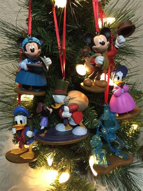 disney 4pc ornament set disney ornament 6pc set mickey mouse a carol s pvc ebay