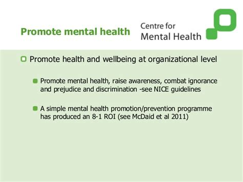Section 8 Mental Health by Managing Mental Health Work Preventing Disability