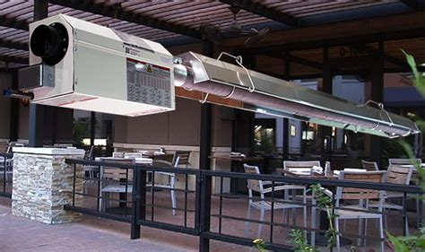 Patio Heating Systems by Patio Heating With Radiant Infrared Heaters