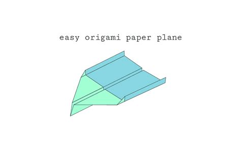 Simple Origami Plane - easy origami paper plane diagram