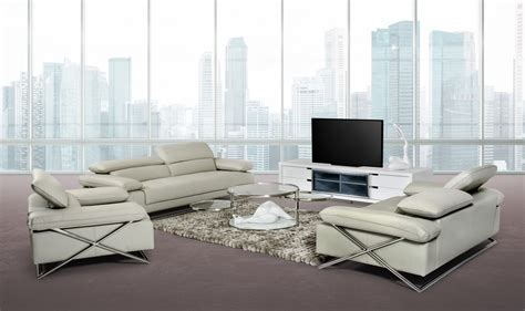 grey leather sofa set powell modern light grey leather sofa set