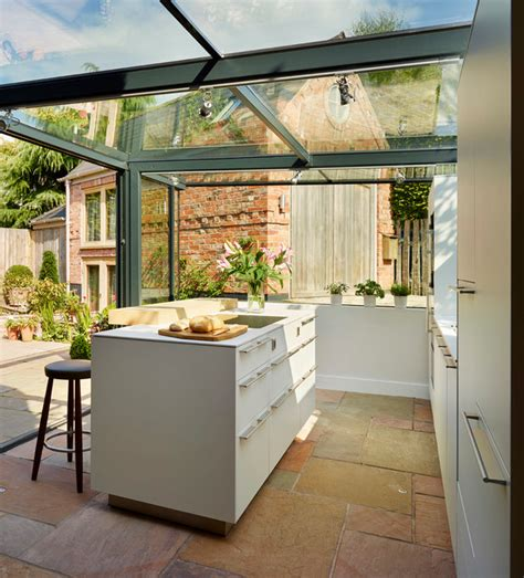 Cottage Kitchen Extensions by Glass Box Extension On Thatched Cottage