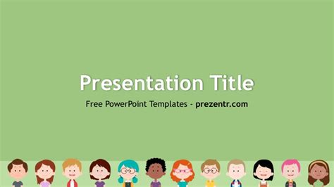 Free Kids Powerpoint Template Prezentr Ppt Templates Powerpoint Templates For Children