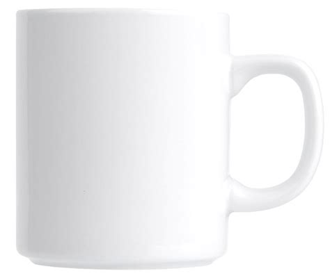 Plain Mug duraceram coffee mug plain white 250ml crown commercial