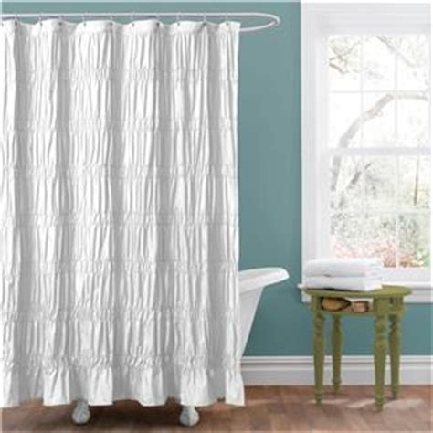 ruched shower curtain romantic white modern textured ruched fabric shower