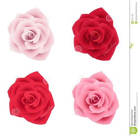 un insieme di fiori un insieme di quattro di vari colori illustrazione