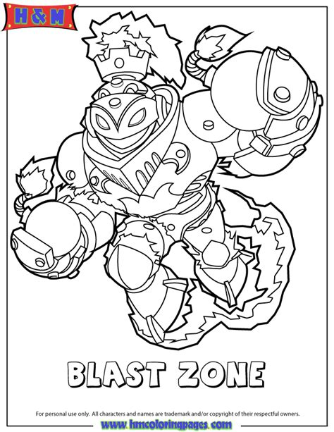 skylanders swap force fire blast zone coloring page h