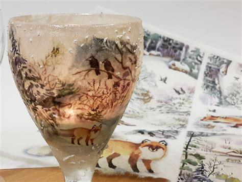 ladari in carta di riso come realizzare il decoupage su vetro con carta di riso