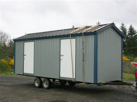 Used Shed Trailer by Portable Sheds Non Warping Patented Honeycomb Panels And
