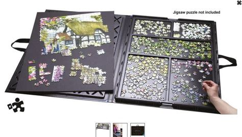 Jigsaw Puzzle Tray With Drawers by Adjustable Tilt Puzzle Boards Save Necks And Backs