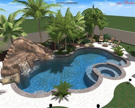 swimming pool w rock slide pool beautiful
