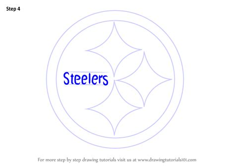 draw logo learn how to draw pittsburgh steelers logo nfl step by