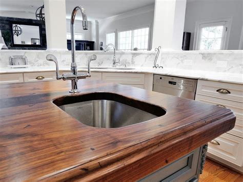 kitchen countertop material ideas wood kitchen countertops pictures ideas from hgtv