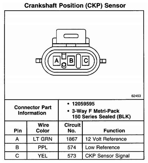 gmc sonoma  crank sensor wiring diagram