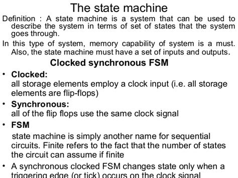 define machina introduction state machine