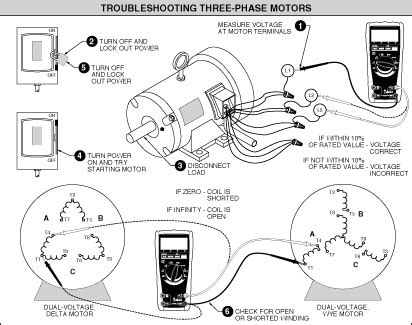 troubleshoot  phase motors   ohmmeter electrical engineering blog
