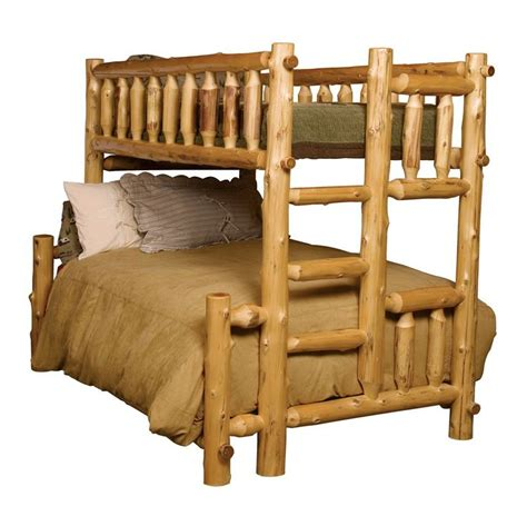 log futon bed bunk beds with futon cedar single futon log bunk bed