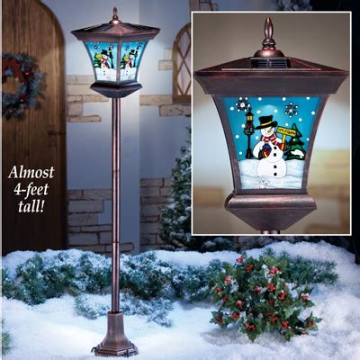 16 in solar powered christmas tree for cematery snowman solar lpost from collections etc