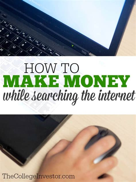 Easy Way To Make Money Online For College Students - 2 easy ways to make money while searching the internet the college investor