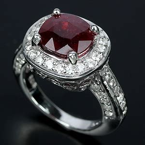 Ruby 4 2ct 4 2ct ruby white sapphire ring size 5 25