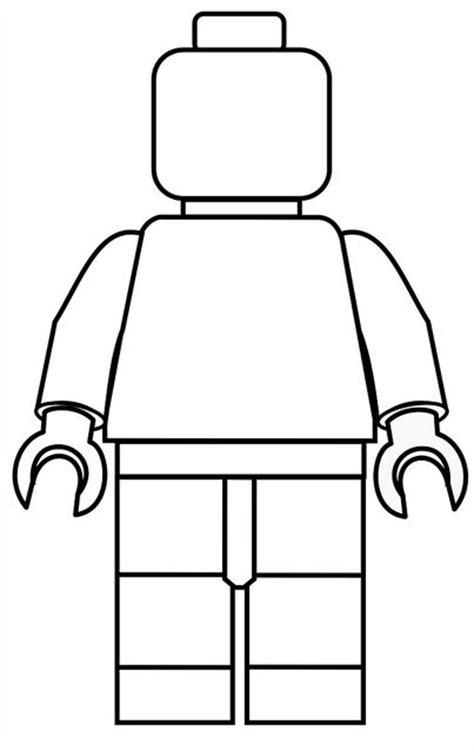 cut out character template lego activities