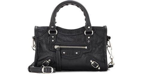 Balenciaga Nano In Black lyst balenciaga classic nano city shoulder bag in black