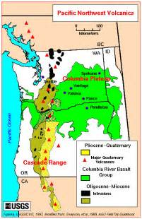 washington state volcanics map