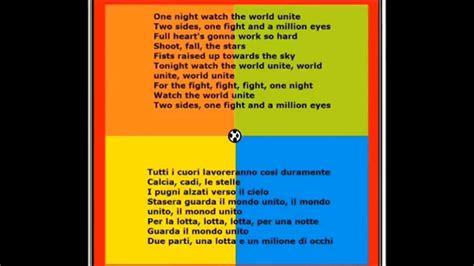 we are testo we are one ola ola mondiali di calcio testo e