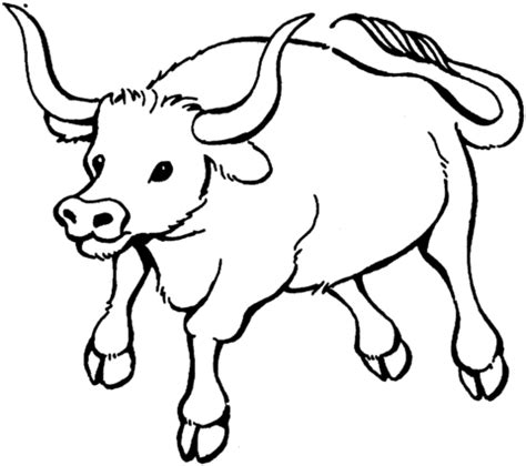 Coloring Pages Of Bulls bull 7 coloring page supercoloring