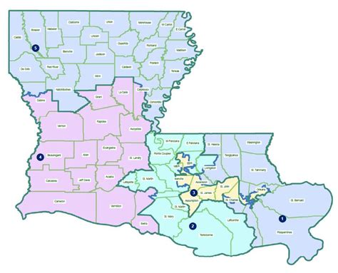 louisiana governor map psc map my