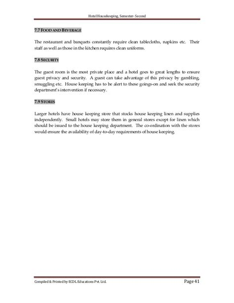 Kitchen Memo Template Hotel Housekeeping