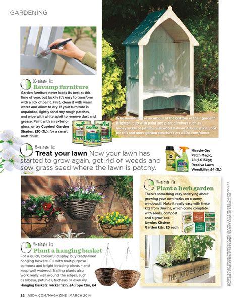 unwins kitchen garden herb kit on sale fast delivery asda magazine march 2014 by asda issuu