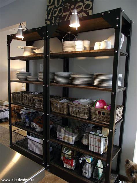 restoration hardware hacks wood metal shelves