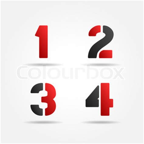 3d number templates 1234 3d stencil numbers