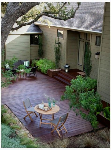 ground level wooden patiodeck projects outdoor