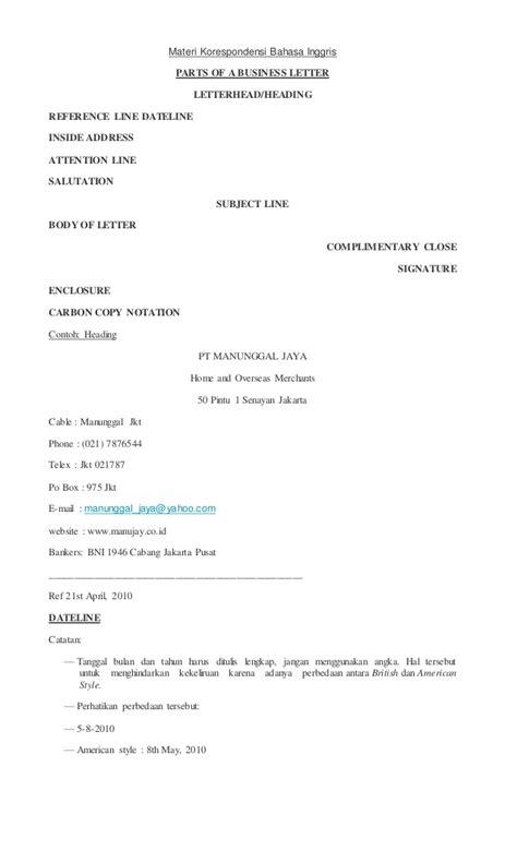 Application Letter Materi Sma Materi Korespondensi Bahasa Inggris