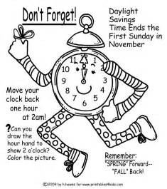 fall time change reminder coloring page printables