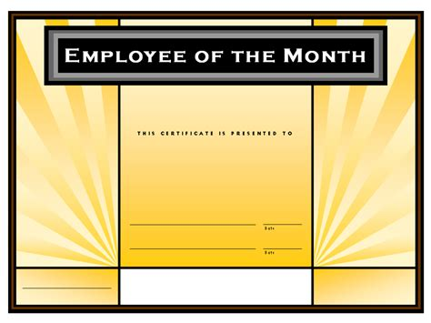 powerpoint employee of the month certificate template