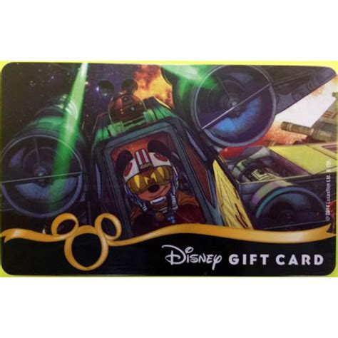 Star Wars Gift Cards - your wdw store disney collectible gift card star wars 2014 x wing fighter mickey