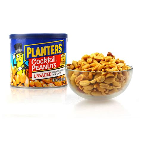 Planters Peanuts Ingredients by Planters Cocktail Peanuts Unsalted 340g
