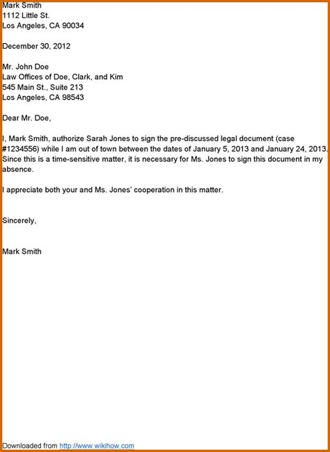 Authorization Letter Court 8 How To Write Authorization Letter Lease Template