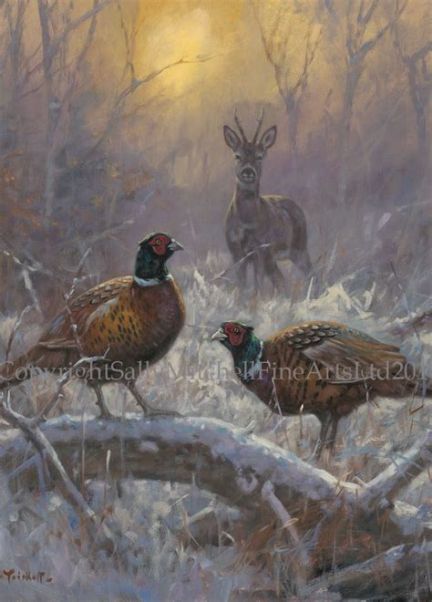 pheasant  deer  snow pack   christmas cards   trickett forest friends cx