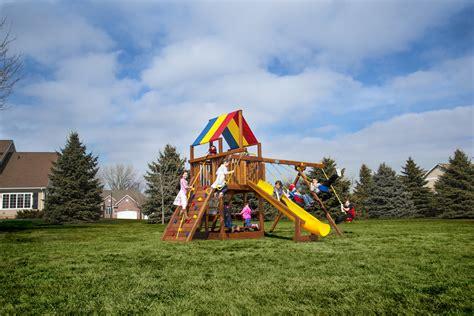 rainbow swing sets rainbow play systems san antonio outdoor playsets