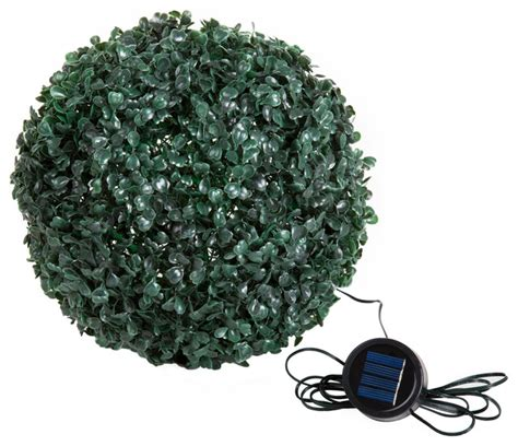 artificial topiary balls with solar lights topiary solar light ball with 20 led lights contemporary