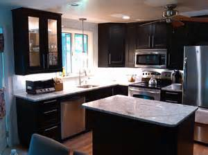 Small Kitchen With Dark Cabinets by Kitchen Small Kitchens With Dark Cabinets Home Interior