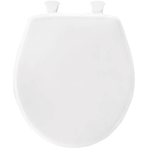 bemis plastic closed front toilet seat in white