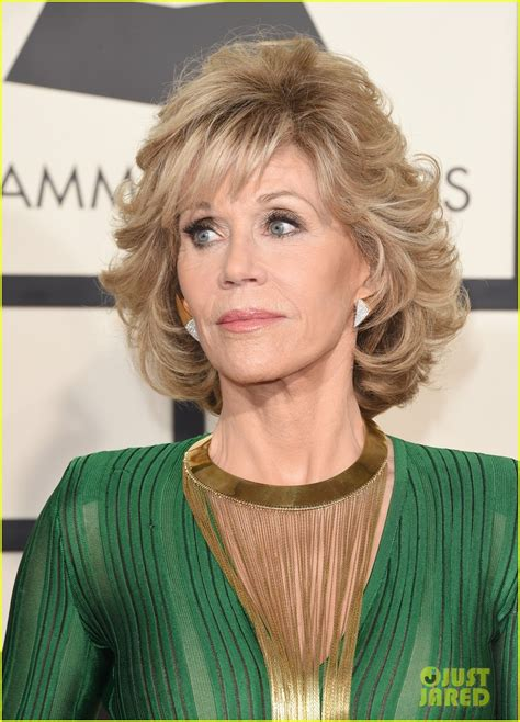Jane Lynch Jane Fonda Stop By The Grammys 2015 Photo