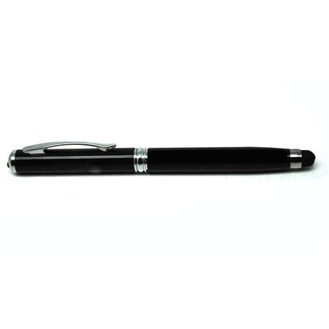 Senter Laser stylus 4 in 1 ballpoint laser pointer senter black jakartanotebook