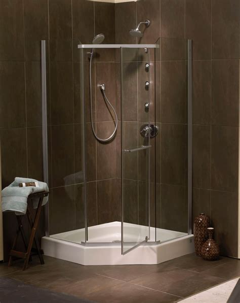 Acrylic Shower Door Sorrento 42 Inch Acrylic Frameless Neo Angle Shower Door Base Scp42na In Canada