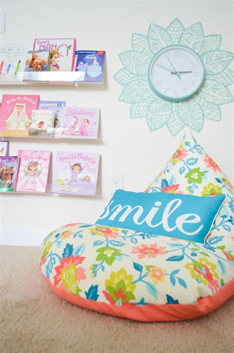 diy bean bag chair template diy embellished wall clock a basic clock is jazzed up